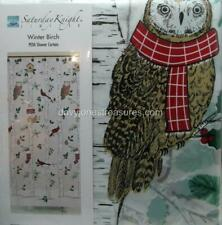 Christmas Shower Curtain WINTER BIRCH Trees featuring Owls Cardinals & More