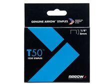 Arrow-T50 Grapas 6mm (1/4in) Caja 1250