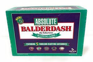 Balderdash The Hilarious Bluffing Game Ventura Complete - Vintage 1993