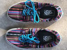 VANS SNEAKERS SHOES RAINBOW STRIPES SIZE 7.5 MENS-With Box-Used
