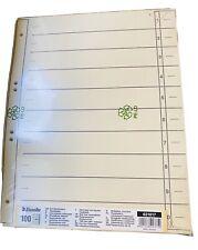 500 Trennblätter hellchamois 180g//m² DIN A4 von Falken mit Blanko Taben