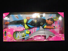 1996 Mattel Ocean Friends Ken Doll W/Dolphin Friend Nib