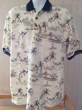Boca Classics Mens Knit Polo Style Shirt Palm Trees Sailfish Medium