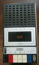 Vintage 1974 Superscope Portable Cassette Recorder C101A Works great!
