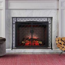 Memori Contemporary Iron Fireplace Screen