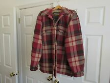Abercrombie & Fitch , Vintage , Mens Coat , Large , RN 75654, Red Plaid , Lined