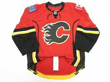 1c7faae2f55 Calgary Flames Authentic Team Issued Reebok 7287 Edge 2.0 Hockey Jersey 58