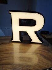 More details for salvaged retro stunning large r lightbox letter/sign light advertising commercia