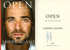 Andre Agassi SIGNED AUTOGRAPHED Open HC 1st Ed/1st Print 8 x Grand Slam Champ