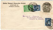 COLOMBIA - CANAL ZONE - CANADA - 30c SCADTA FF COVER - CARTAGENA - 1929 RRR
