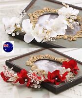 Women Girl Flower Pearl Party Wedding Beach Tiara Crown hair headband Garland