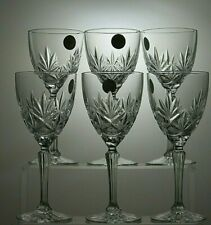 LOVELY CUT GLASS CRYSTAL GLASSES SET OF 6