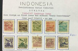 MOMEN: INDONESIA SUMATRA 1946-7 USED LOT #8903