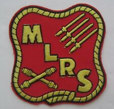 United States MARINE CORPS MLRS Multiple Launch Rocket System Patch