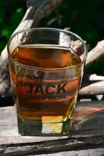 Jack Daniels Double Old Fashioned Glass - Lives Here - Old No. 7 - DOF - Whiskey