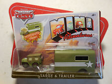 Disney CARS 1 MINI ADVENTURES Motorized SARGE & Trailer PIXAR RARE FREE SHIP NEW