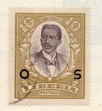 Liberia 1920s Officials Early Issue Fine Used 10c. Optd 151468
