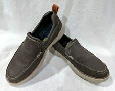 Skechers Men's Relaxed Fit Doveno Hangout Chocolate Slip-On Shoes - Size 11 NWB