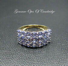 9K gold 9ct Gold Iolite Band Ring Size K 1/2 3.3g US Size 5 1/2 1.89ct