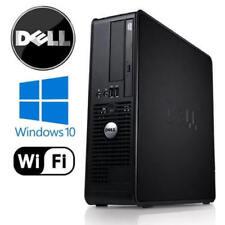 Fast Dell PC computer desktop tower Windows 10 WIFI 8GB RAM 1000GB HDD Ufficio