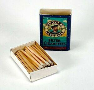 VTG Players Navy Cut Filter Cigarettes Stick Match Box USA