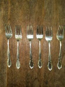 "WM Rogers IS  1959 ""Moonlight"" - ""Lovelight""- Royal Victorian...6 Salad Forks"
