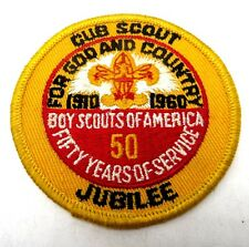 """Cub Scout 50 Year National Jubilee Patch 3"""""""