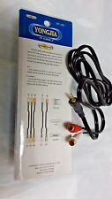 3.5mm Male Plug to 2 x RCA female Phono Jack Aux Audio Video AV OFC Cable 5ft