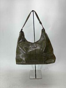 Kate Spade Green Embossed Patent Shoulder Bag