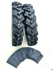 Two 650 16 650x16 R1 Farm Tractor Tires Withtubes Lug 650 16 Front