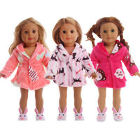 """Hot Handmade Accessories Fits 18"""" Inch American Girl Doll Clothes Pajamas robe"""
