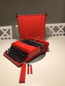 Rare Retro Olivetti Valentine S Typewriter Schreibmaschine Máquina de Escrever