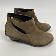 Dansko Boots Size 39 9 Womens Brown Bonita Leather Ankle Booties Cutout Back Zip