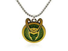 LOKI HELMET Necklace, Official Marvel Disney+ Men Loki SYMBOL Pendant Necklace