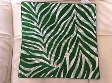 Yves Delorme Iosis Kota Pillow Cover Embroidered Jungle Green 17x17 NWT!