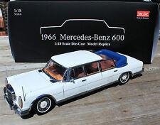 MERCEDES-BENZ 600 LANDAULET in bianco SUN STAR scala 1:18 OVP NUOVO
