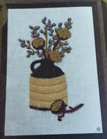 NEW Jiffy Stitchery Crewel Embroidery Kit Thistles & PussyWillows Vintage 1974