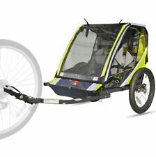 Bike Trailer For Kids Pull Behind 2 Seater Double Hitch Attachment Bicycle Cover