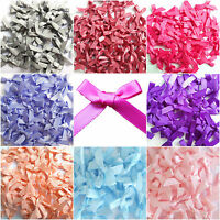 Mini Satin Ribbon Bows 7mm Choice Single / Mixed Colour For Art & Craft Sewing