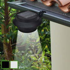 vidaXL 6x Focos LED Energía Solar de Valla de Jardín Luz Exterior Negro/Blanco