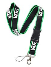 * Black & Green VANS Skate Sport Lanyard Key ID Badge Neck Strap+FREE STICKERS *