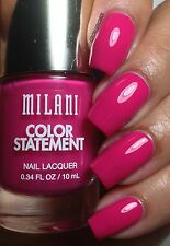NEW! Milani Color Statement Nail Polish in HOT PINK RAGE ~ VIBRANT MAGENTA pink