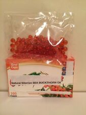 50ml Organic Sea Buckthorn Oil 2pc Capsules 100 Pcs (300 Mg) Omega 3 7 6