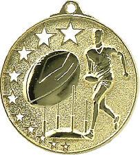 AFL Footy 3D embossed 50mm Diameter Medal Inc Neck Ribbon / Engraving
