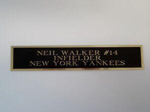 Neil Walker Yankees Autograph Nameplate For A Baseball Bat Jersey Case 1.5 X 8