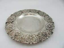 Sterling Silver 925 Round Plate Tray Used 7 inch diameter