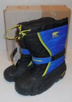 Sorel Youth Flurry Winter Snow Boots Boys 6 Youth Blue Black New