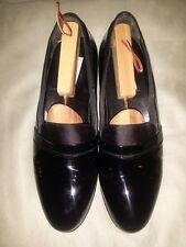 Mezlan Mirage Black Patent Leather Formal Tuxedo Slip On Shoes Loafers 11.5 B.
