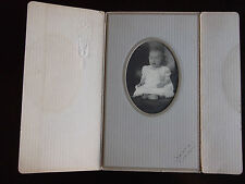 Antique Photograph of Baby Signed Harris 1917