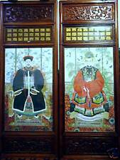 Antique CHINESE EMPEROR and EMPRESS hand painting 5',3""